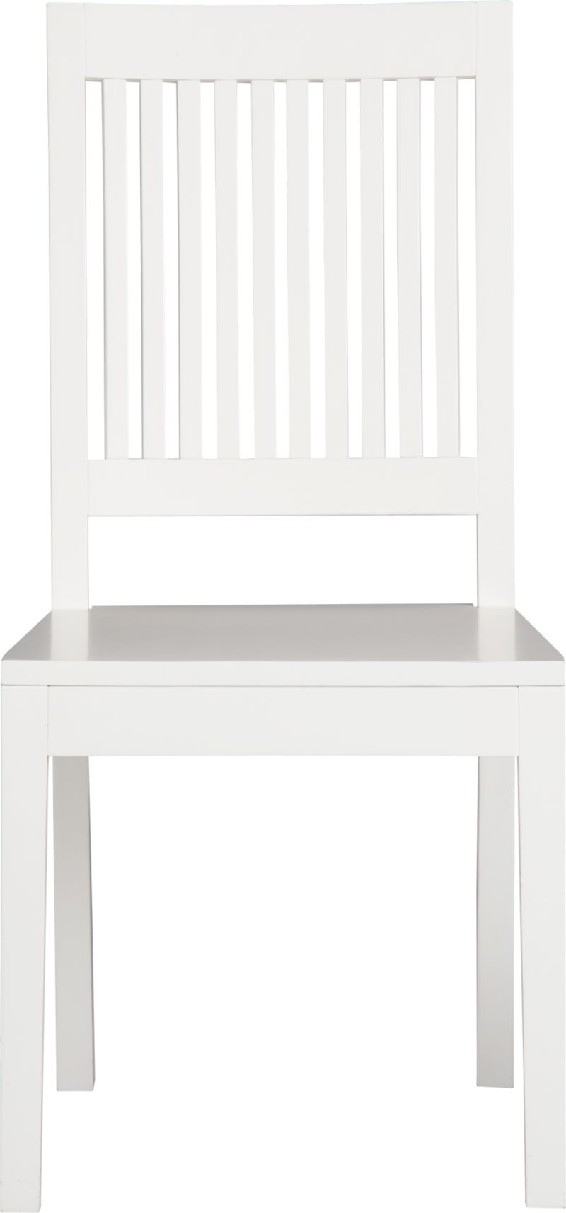 An update of the classic slat-back brings a contemporary edge to traditional Arts and Crafts styling. Handcrafted of sustainable solid rubberwood with a white lacquer finish.<br /><br /><NEWTAG/><ul><li>Solid sustainable rubberwood</li><li>White lacquer finish</li></ul>
