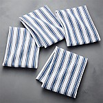 Aster Stripe Indigo Dish Towel, Set of 4