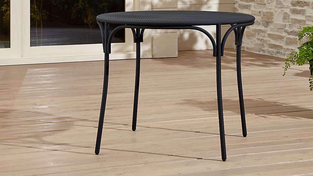 crate patio furniture pinterest aster black mesh patio table reviews crate and barrel