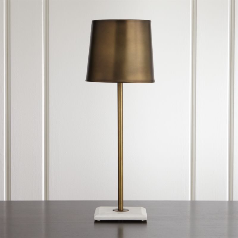 Astor Brass Buffet Lamp Reviews Crate And Barrel