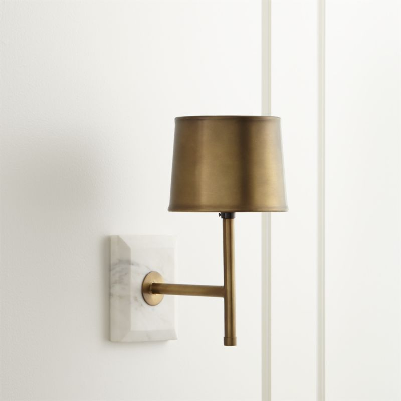 Wall Lamps Crate And Barrel : Astor Brass Sconce Crate and Barrel