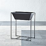 Astra Double Tall Black Planter