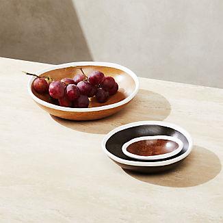 Astra Small Mango Wood Bowls, Set of 3