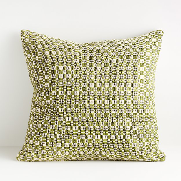 "Astrid Green Pattern Pillow 23"" - Image 1 of 5"