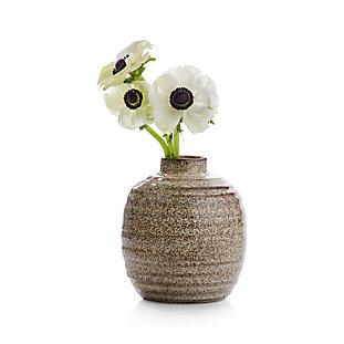 Astrid Speckled Ribbed Vase