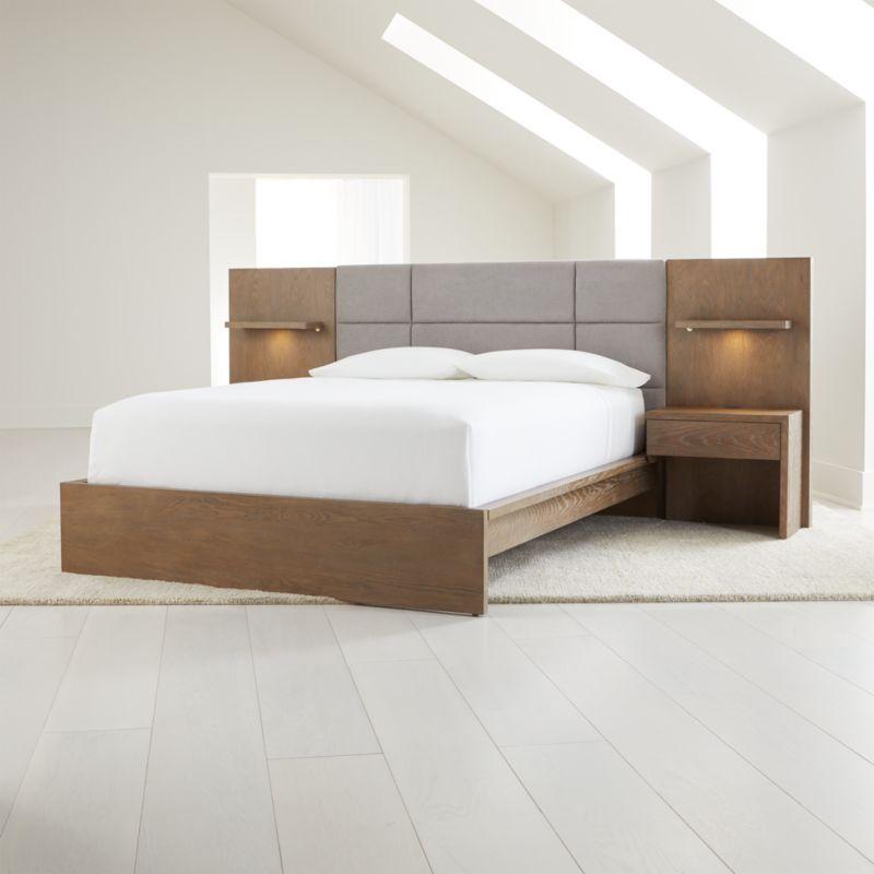 Atlas Queen Bed With Panel Nightstands