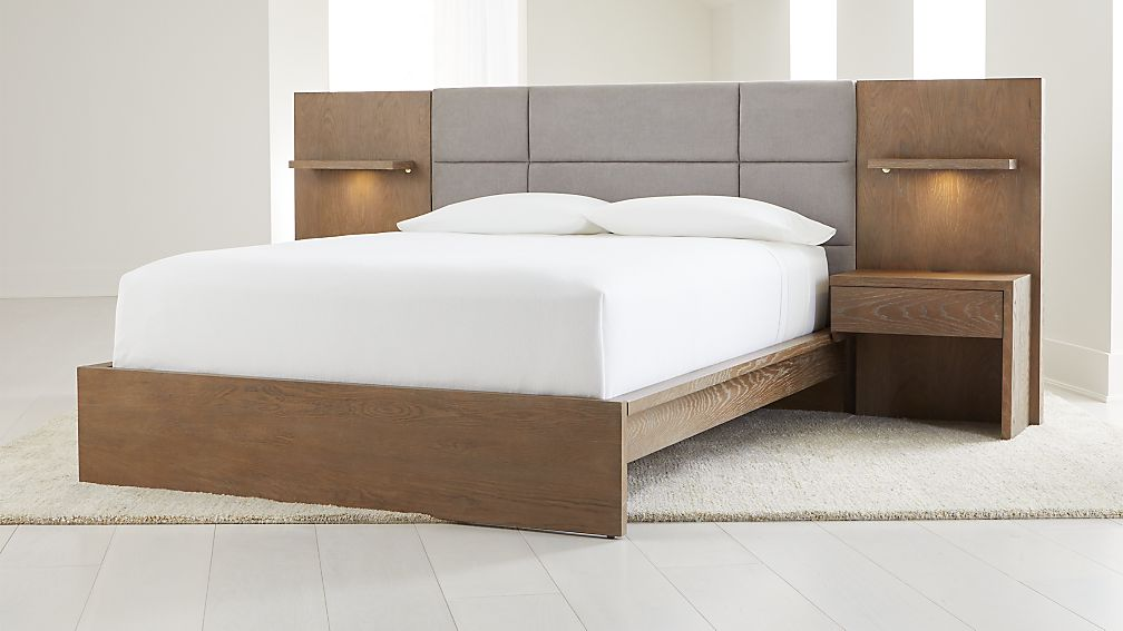 Atlas Bed With Panel Nightstands Crate And Barrel