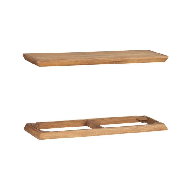 Classic crown molding and base with levelers in handsome teak frame stacking Atticus cabinets, sold separately.<br /><br /><NEWTAG/><ul><li>Solid teak and low-emission engineered wood</li><li>Water-based sealer and topcoat</li><li>Mending plates included</li><li>Base has leg levelers</li><li>Made in Indonesia</li></ul>