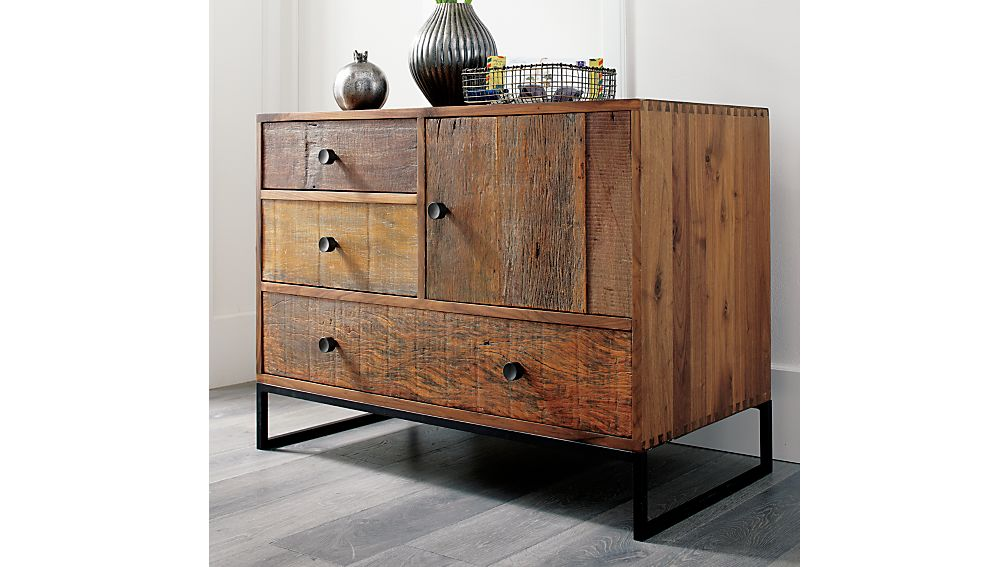 Atwood Reclaimed Wood Chest Crate and Barrel