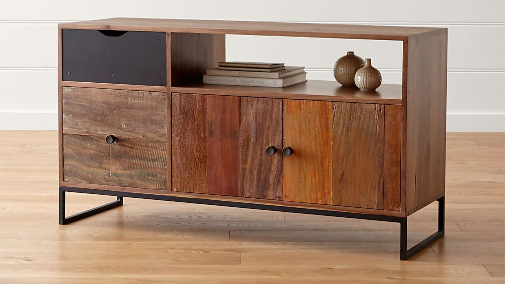 Atwood Reclaimed Wood Credenza Crate and Barrel