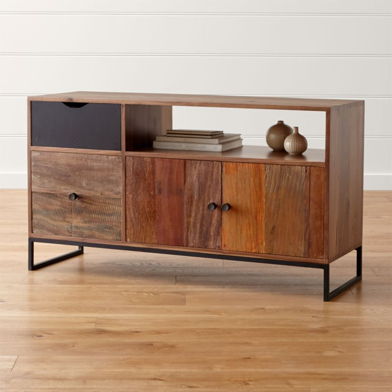file cabinet credenza atwood reclaimed wood credenza reviews crate and barrel 15319