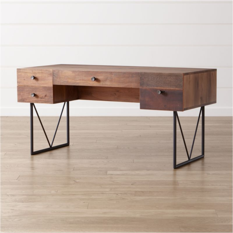 Atwood Reclaimed Wood Desk Crate And Barrel