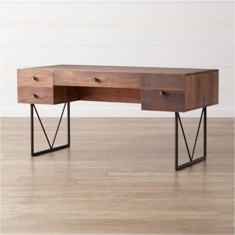 Distressed Wood Desks Crate And Barrel
