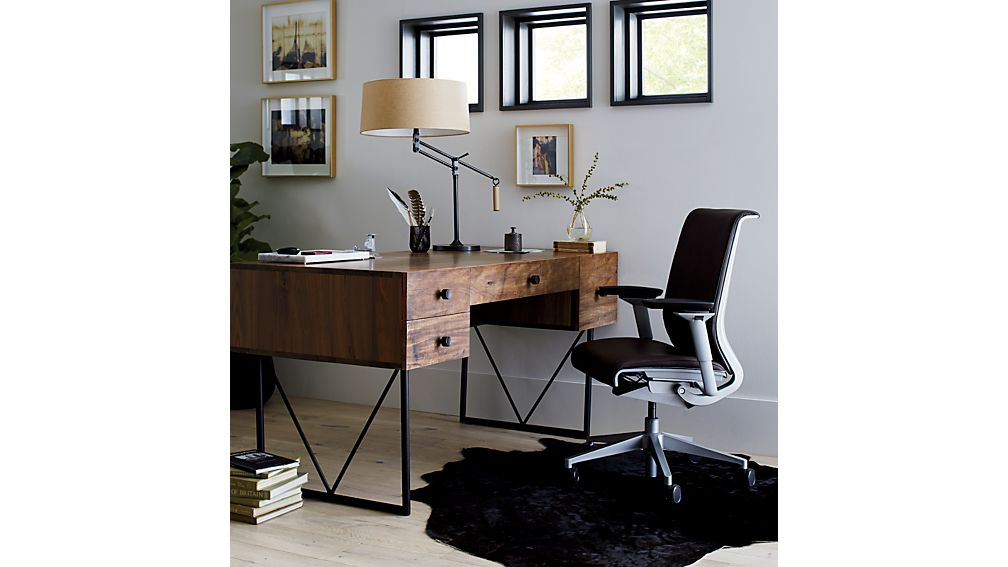 Steelcase ® Think ™ Ebony Leather Office Chair