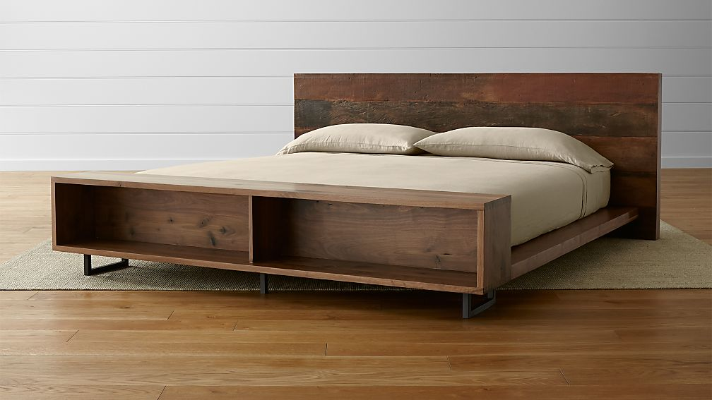 Atwood California King Bed with Bookcase Footboard + Reviews