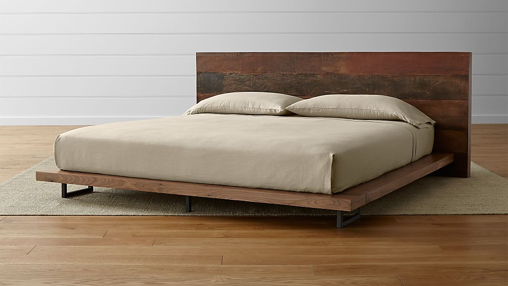 Atwood Reclaimed Wood King Bed Reviews Crate And Barrel