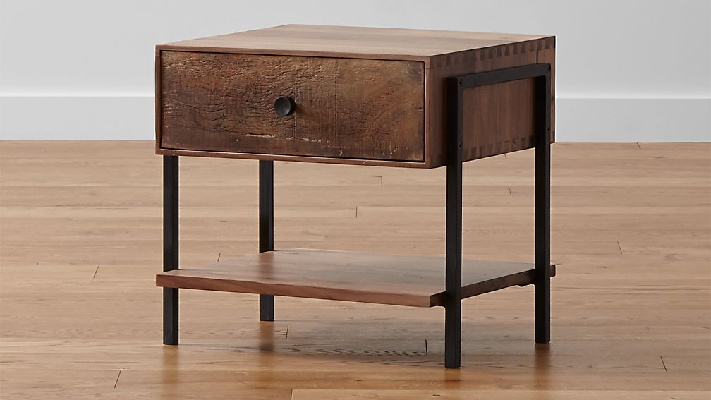 atwood reclaimed wood nightstand + reviews | crate and barrel Nightstand Images