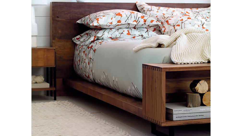 Atwood California King Bed with Bookcase Footboard