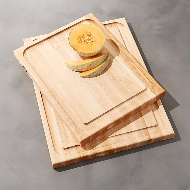 John boos au jus reversible maple cutting boards crate