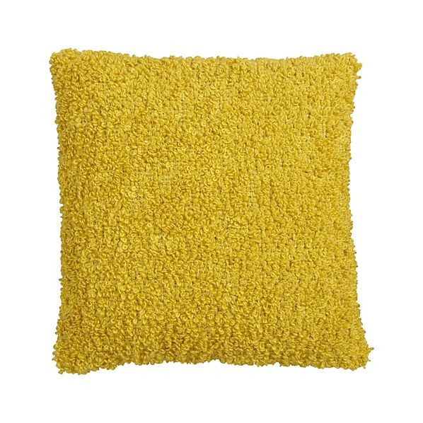 """Aubree Boucle Yellow 18"""" Pillow"""