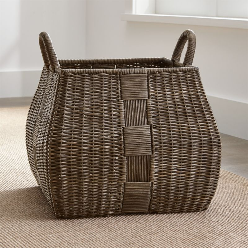 Auburn Square Basket Large Reviews Crate And Barrel