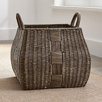 Auburn Woven Basket with Handles Large