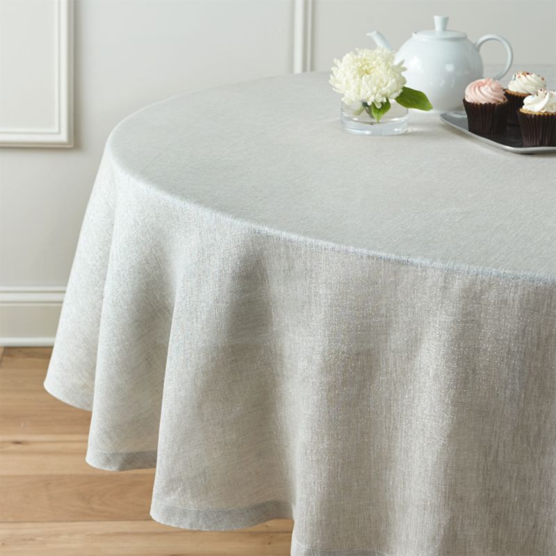 Aurora Linen 90 Quot Round Tablecloth Crate And Barrel