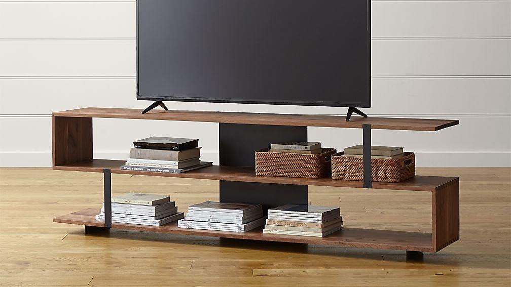 austin 78 media console reviews crate and barrel. Black Bedroom Furniture Sets. Home Design Ideas