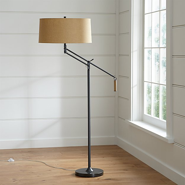 Autry Floor Lamp | Crate and Barrel:Autry Floor Lamp,Lighting