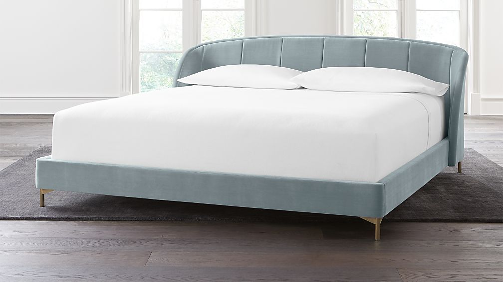 Ava Stone Blue King Bed - Image 1 of 5