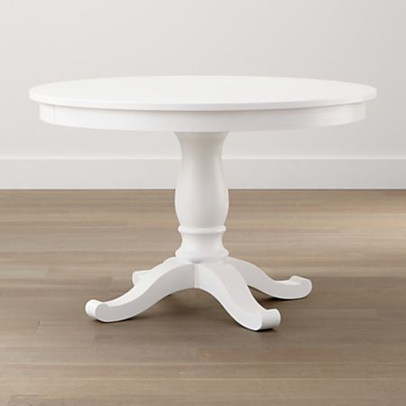 Avalon 45 White Round Extension Dining Table
