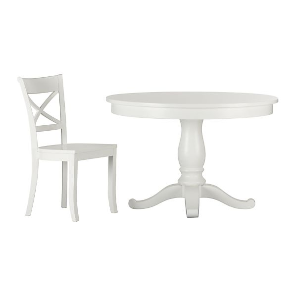 7-Piece Avalon-Vintner White Dining Set