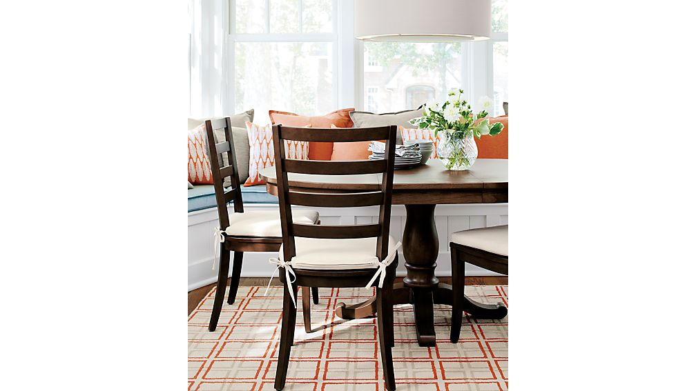 Avalon 45 Tea Brown Round Extension Dining Table Crate And Barrel