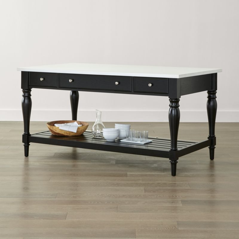 Sheridan Black Kitchen Island Crate and Barrel