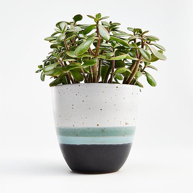 Aveiro Medium Blue Planter - Image 1 of 8