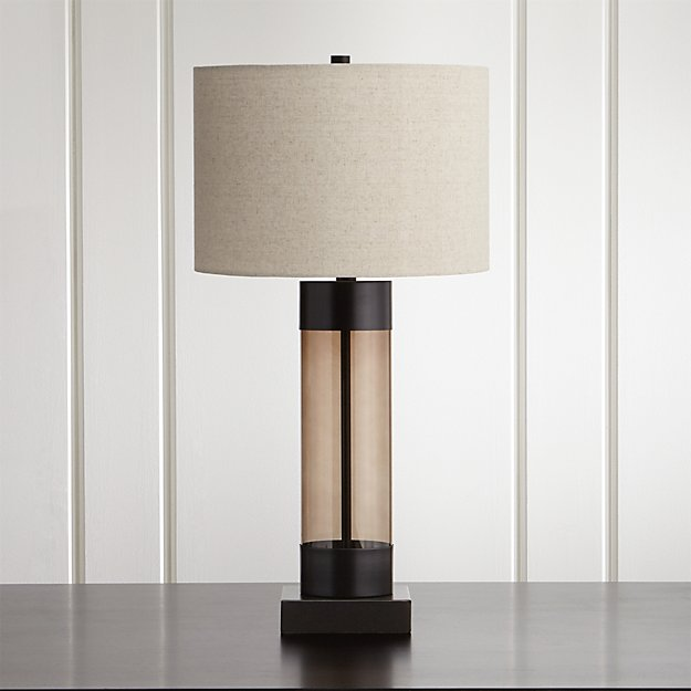 Avenue Bronze Table Lamp With Usb Port Reviews Crate And Barrel