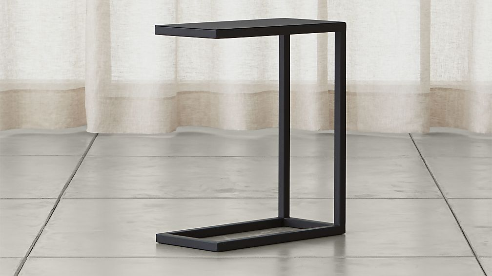 Avenue Black C Table Reviews Crate And Barrel