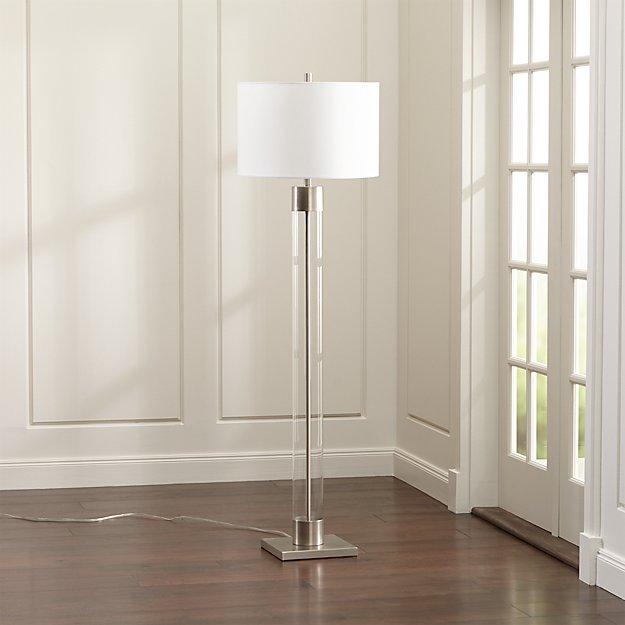 Crate and Barrel Exclusive. Avenue Nickel Floor Lamp - Avenue Nickel Floor Lamp Crate And Barrel