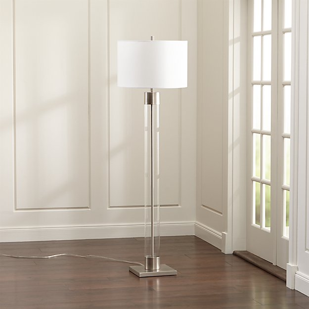 Avenue Nickel Floor Lamp - Image 1 of 4