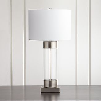 Superior Avenue Nickel Table Lamp With USB Port