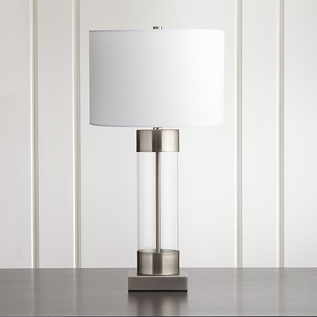 Avenue Nickel Table Lamp With Usb Port Reviews Crate And Barrel