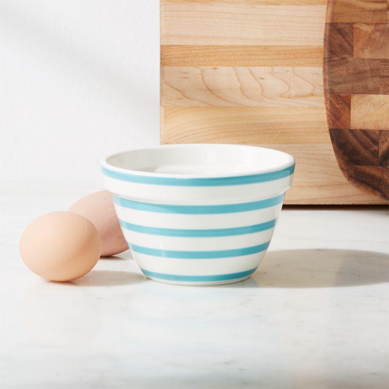 Avery Aqua Stripe Mini Mixing Bowl Reviews Crate And