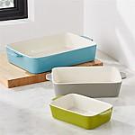 Avery Ceramic Baking Dishes, Set of 3