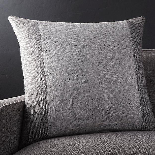 "Avi Graphite 23"" Pillow with Down-Alternative Insert"