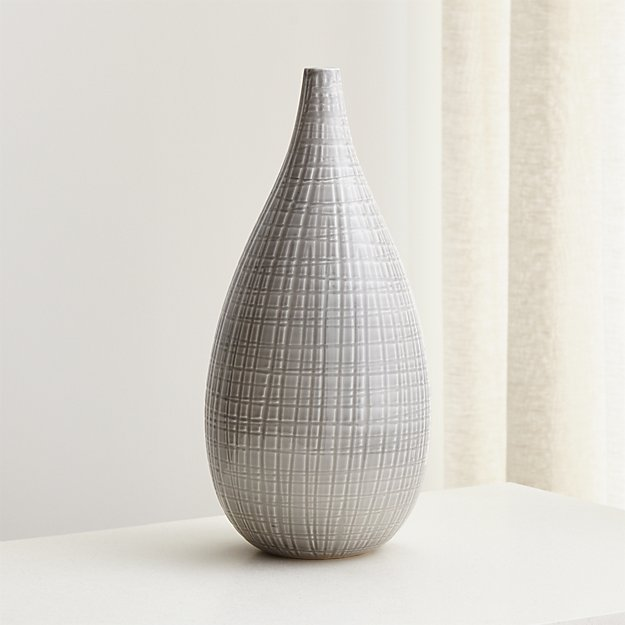 Aviva Large Grey Vase Reviews Crate And Barrel
