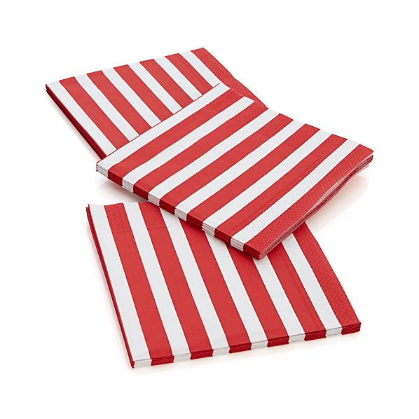 Awning Stripe Paper Dinner Napkins Set of 20
