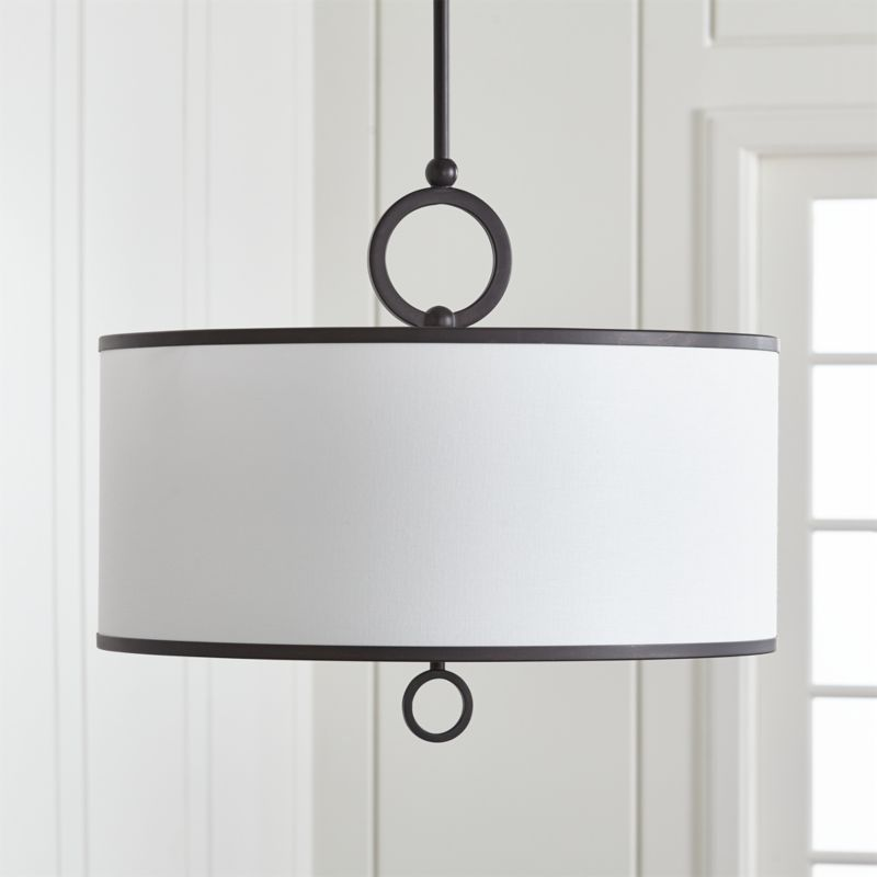Axiom 24 Black Drum Pendant Light