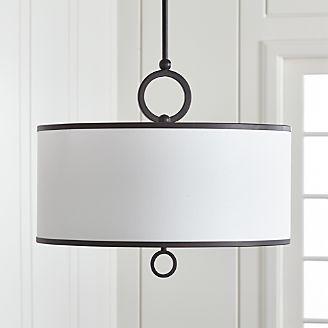 Axiom 24 Black Drum Pendant Light