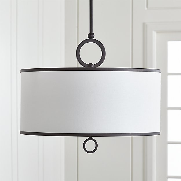 Axiom 24 Quot Black Drum Pendant Light Reviews Crate And