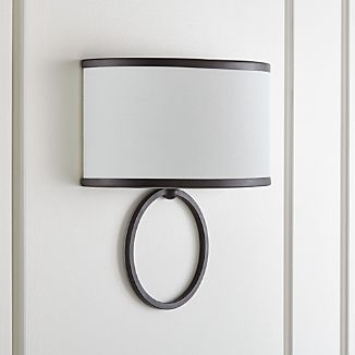 Axiom Black Sconce